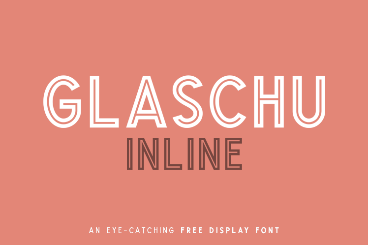 Glaschu Inline Free Display Font